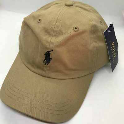 Ralph Lauren Polo Baseball Cap Beige Black Pony Free Postage CLEARANCE SALE