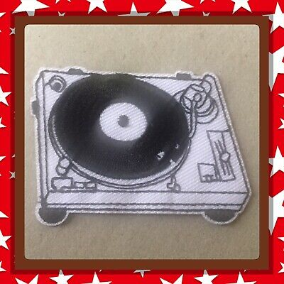 🇨🇦 Vintage Turntable Music Patch Embroidered Sew On/stick On Cloth/new 🇨🇦