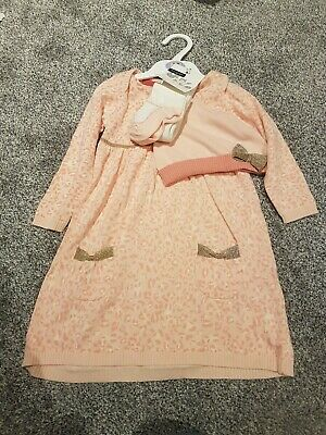 M&S girls pink print dress age 18-24 months BNWT
