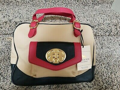 EMMA FOX TRICOLOR Leather Bag NWT $169.99 | PicClick