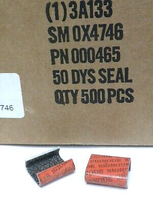"SIGNODE 50-DYS 1/2"" STRAPPING SEAL Snap-on Grit (1)3A133 500 pcs NIB"