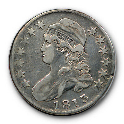 1813 50C Capped Bust Half Dollar Very Fine to Extra Fine Cleaned #RP95