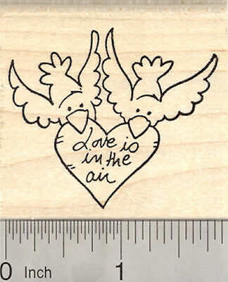 Valentine/'s Day Poodle eating Chocolate Heart Rubber Stamp H15901 WM love heart