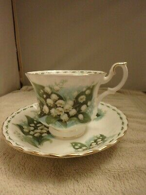 Royal Albert Flower Of The Month Cup & Saucer - May Lily Of The Valley