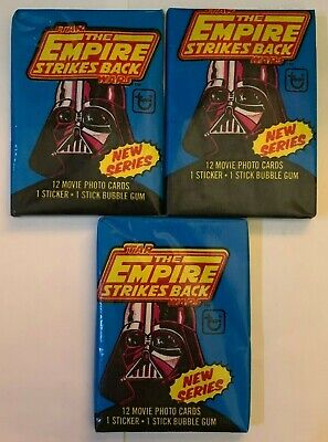 3 1980 Topps Star Wars The Empire Strikes Back Series 2 Unopened Wax Packs