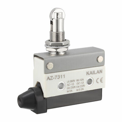 AZ-7311 Roller Plunger Micro Limit Switch Momentary Panel Mount 1NC+1NO