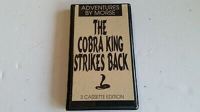 Adventures by Morse The COBRA KING Strikes Back 3 Cassettes & Case 1990