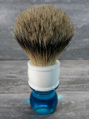 Yaqi 24mm Aqua Highmountain Silvertip Badger Hair Shaving Brush R1818