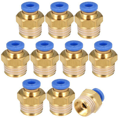 """10Pcs 1/4"""" G Male Straight Thread 4mm Push In Joint Pneumatic Quick Fittings"""