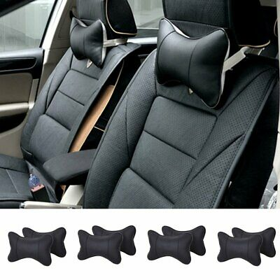 Car Auto Seat Head Neck Rest Pillow Leather Cushion Breathe HeadRest Bone Pad