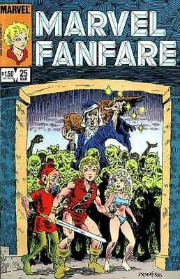 Marvel Fanfare (1982 series) #25 in Near Mint condition. Marvel comics [*st]