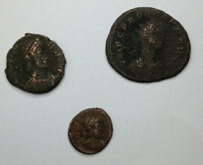 Lot Of 3 Ancient Roman Coins. Unresearched.