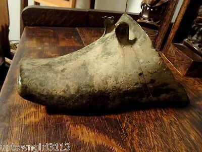 RELIC antique CHINESE stirrup side saddle BRONZE Tibet 19thC slipper MUSEUM