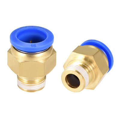 """2Pcs 3/8"""" G Male Straight Thread 16mm Push In Joint Pneumatic Quick Fittings"""