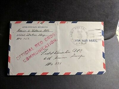 APO 159 SANSAPOR, NEW GUINEA 1945 WWII Army Cover 172nd Hospital RED CROSS
