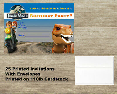 LEGO JURASSIC WORLD Birthday Card Personalised FREE P Any Name Or