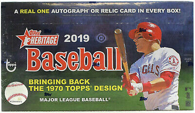 2019 Topps Heritage Baseball Factory Sealed Hobby Box Fresh From Case 12 Avail