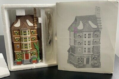 DEPT 56 DICKENS VILLAGE SERIES 1991 Lighted House NEPHEW FRED'S FLAT # 5557-3