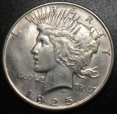 1925-P Peace Silver Dollar - 90% Silver, Great Details