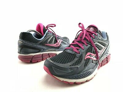 Saucony Womens Echelon 5 Charcoal Purple Running Shoes S10277 1 Size 9.5 Wide