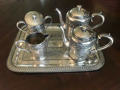 Antique 4xPlate Silver Tea/Coffee Set Historically Significant D.W. CHEESEMAN