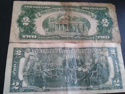 1976 and 1953 $ 2.00 bills