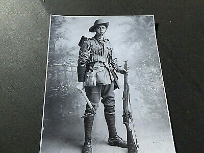 Ww1 Aif Anzac Australian Soldier  Photo Cpl Crisp 10Th Btn Aif South Australia
