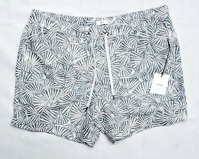 98a03e783d NEW Onia Mens Blue Swim Trunks Shorts Size XXL Charles 5 Inch Abstract Fan  NWT
