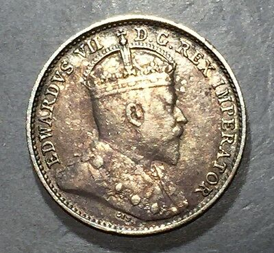 CANADA 1909 5 Cents   KM-13    **FREE SHIPPING**