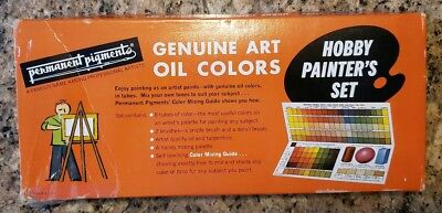 Vintage Permanent Pigments Oil Painting Set no. 351, from 1966