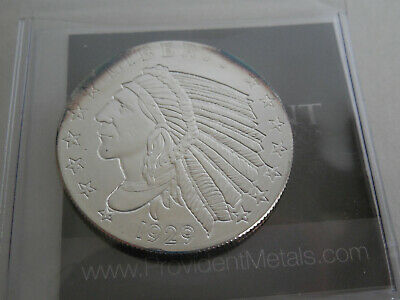 1929 Silver Indian Head Golden State Mint 1/2 oz Fine Silver Coin Round Incuse