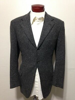 H34 Brioni Men's Cashmere Blazer Size 40R Sport Coat Italy 3-Button Gray Specks