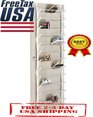 3d29e8bdce3 WHITMOR OVER THE Door Shoe Rack - 36 Pair - Fold Up Non Slip Bars ...