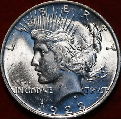 Uncirculated 1923 Philadelphia Mint Silver Peace Dollar