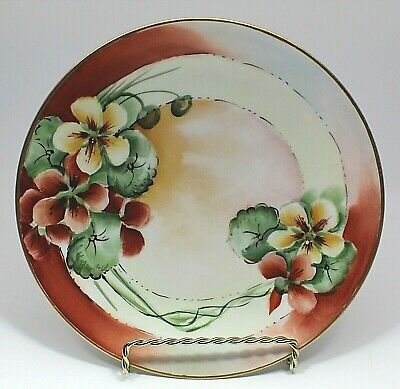 Antique B & Co. Bernardaud Limoges France Hand Painted Signed Floral Plate