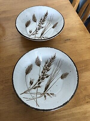 Midwinter Stonehenge Wild Oats Cereal Bowls Set Of Two