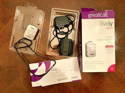 Greatcall Lively Alert Silver Includes Alert Unit, Dock, Lanyard & Guide