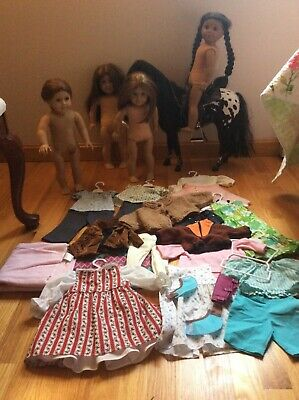 American Gir Pleasant Company l Lot Of 4 Dolls Clothes & Steps High Horse