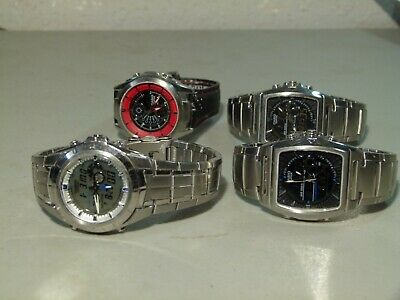 4X Mens Casio Edifice Ana Digi Quartz Watches Efa 120 Efa 119 Efa 116