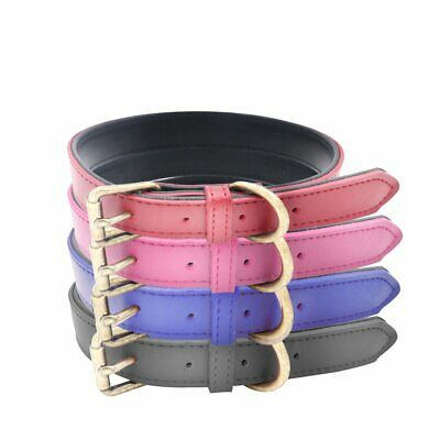 azuza Dog Collar Soft Padded Leather Puppy Collars for Small Medium Large Dogs