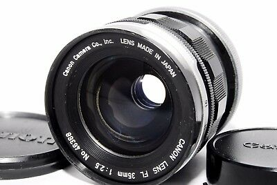 Canon FL 35mm F/2.5 Wide Angle Lens W/ Caps FROM JAPAN #67