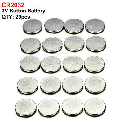 20pcs CR2032 3V Button Cell Coin Battery For Watch Toys Camera