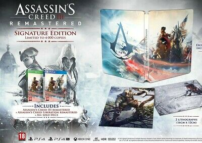 Assassin's Creed 3 Remastered Signature Edition PS4 PRE ORDER NEU / LIMITIERT!!!