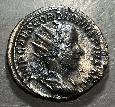 ANCIENT ROME Gordian III 238-244 AD SIlver Antoninianus Rome Mint   #A213