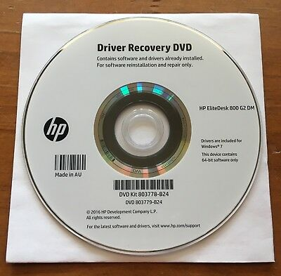 Driver Recovery DVD HP EliteDesk 800 G2 DM WIN7 - Brand New