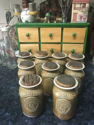 Vintage Wartook /Jimmey's Creek Australian Pottery/ Spice/Herb Canisters/ Rare