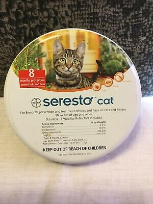 NEW Seresto Flea and Tick Collar for Cats 8 Months Genuine USA EPA Approved