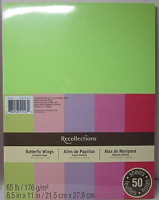 """Recollections Cardstock Paper 8 1/2"""" x 11"""" 50 Sheets 65 lb BUTTERFLY WINGS"""