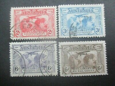 Australian Pre Decimal Stamps: Airmail Set Used  (a87)