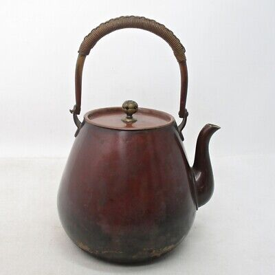 E479: Japanese copper ware kettle for SENCHA with very good tone and cute shape